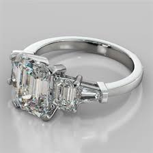 5 engagement ring 2 31ct emerald cut 5 engagement ring with baguette accents