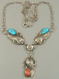 coral necklace silver images Vintage larry begay navajo old pawn sterling silver turquoise jpg
