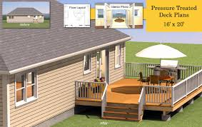 Patio Deck Cost by 16 U0027 X 20 U0027 Pressure Treated Deck Plans Deck Plans Pinterest