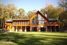 log cabin ranch style home plans house l shaped incredible homes