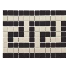 Wall Border Tiles Merola Tile Gotham Square Greek Key Border 9 3 4 In X 13 In X 5