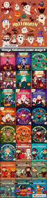 vintage halloween poster design 6 25 eps game ideas