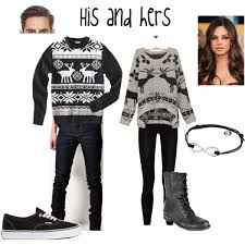 christmas hers his and hers christmas sweaters polyvore