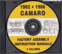 1982 camaro owner u0027s manual reprint berlinetta sport coupe z 28