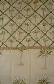 waverly tahiti palm trees bamboo fabric shower curtain yellow