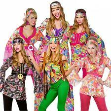 Flower Power Halloween Costume Hippy Fancy Dress Ebay