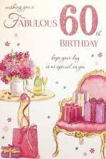 happy 60th birthday card for her womens ladies female poem verse