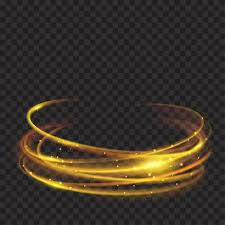 fire rings images Glowing fire rings with glitter in gold colors on transparent jpg