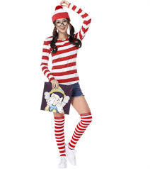 where s waldo costume where s waldo costume wheres wally wenda shirt hat sock men