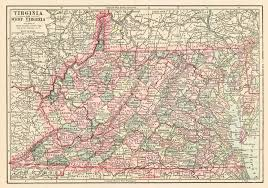 Topographical Map Of Virginia by Maps Antique United States Us States West Virginia