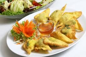insert cuisine fried dumplings with spinach stock image image of
