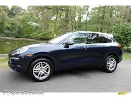 dark green porsche 2011 porsche cayenne s in dark blue metallic a42737