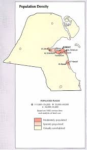 kuwait on a map kuwait population density map kuwait mappery