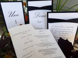 table numbers place cards the detail