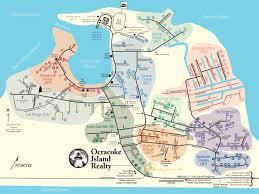 New Orleans Neighborhood Map by Ocracoke Island Neighborhoods Map Ocracoke Island Realty