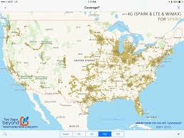 Verizon Coverage Map Florida by Sprint Coverage Map U2013 Rv Mobile Internet Resource Center
