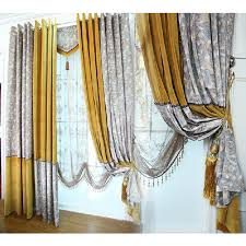 chic leopard yellow suede shabby chic curtains