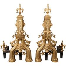 pair of 18th century french bronze chenets 18th century
