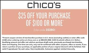 chicos coupon chicos coupons 2018 printable world of menu and chart inside