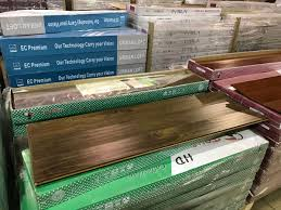 pallet of toucan tf3102e walnut handscraped laminate flooring