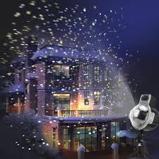 snowfall led lights rotating projector light snowflake
