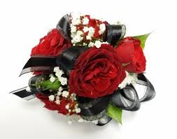 and black corsage corsage with black ribbon in las vegas nv signature