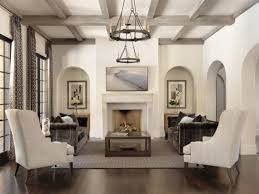 Neutral Living Area With An Interesting Paint Treatment On The - Living room ceiling colors