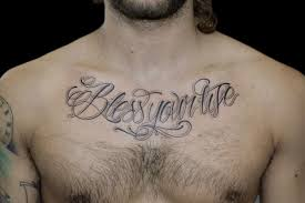 chest tattoos script tattoos book 65 000 tattoos designs
