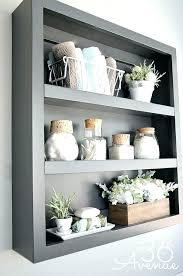 bathrooms decoration ideas impressing best bathroom shelf decor ideas on half shelves