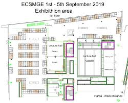 lecture hall floor plan exhibition u0026 sponsorship ecsmge 2019