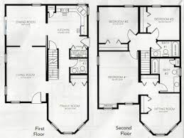 2 home plans beautiful 4 bedroom 2 storey house plans home plans design