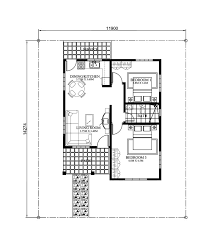 free bungalow house designs and floor plans with 2 bedrooms 3