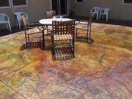 Pea Gravel Concrete Patio by Fabulous Ways To Stain Concrete Patio U2014 All Home Design Ideas