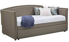 linen daybed with roll out trundle day bed twin sofa chaise lounge