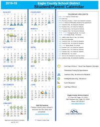 school calendars eagle county schools