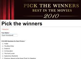 watching the oscars tonight google docs has a simple voting