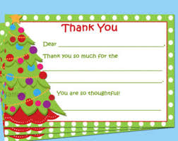 christmas thank you cards christmas thank you etsy