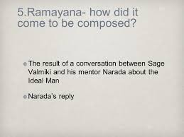 the ramayana a presentation by h y rajagopal ph d to the