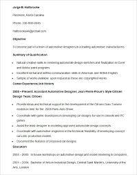 download automotive design engineer sample resume