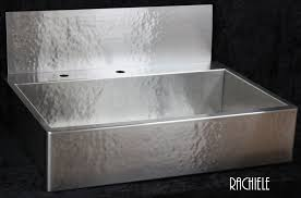kitchen sink with backsplash rachiele custom hammered stainless apron front sinks made in the