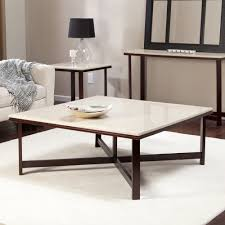 furniture coffee table solid wood square coffee table with white