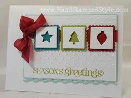 simple handmade christmas card ne wall