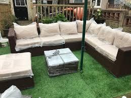 Yakoe Garden Furniture Yakoe Papaver Outdoor Brown Corner Sofa Rattan Set Free Delivery