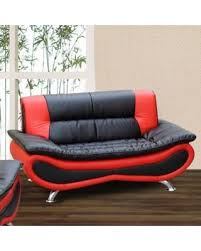Bonded Leather Loveseat Deal Alert Beverly Furniture Christina Red Black Two Tone Bonded