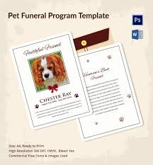 Where To Print Funeral Programs Pet Funeral Program Template 5 Psd Eps Cdr Format Download