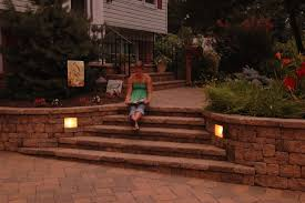 120 Volt Landscape Lighting by Retaining Wall Lights Tri North Lighitng Inc