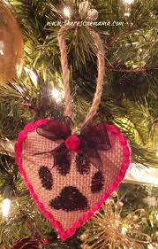 pet craft paw print ornaments u2013 the rescue mama