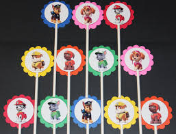 paw patrol cupcake toppers 12 count cake toppers marshall