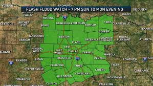 Dallas Radar Map by North Texas Under Flash Flood Watch Until Monday Evening Nbc 5
