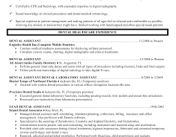 Monster Com Resume Samples by On A Resume For Dental Assistant
